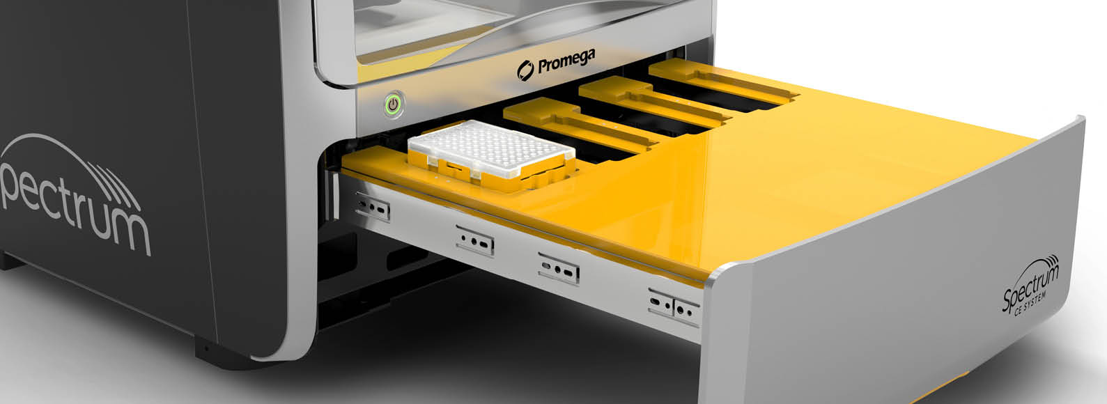 Spectrum CE System has a convenient 4-plate drawer for increased capacity.