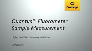 Quantus Fluorometer Sample Measurement
