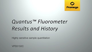 Quantus Fluorometer Results and History