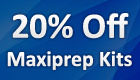 20% Off Maxiprep Kits