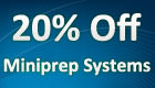 20% Off Miniprep Systems