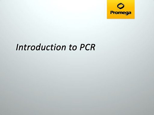 Introduction to PCR